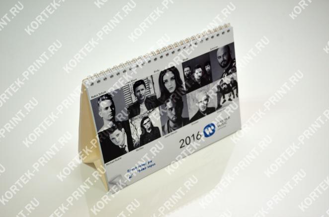 Календарь-домик А5, 12 листов, индивидуальные блоки